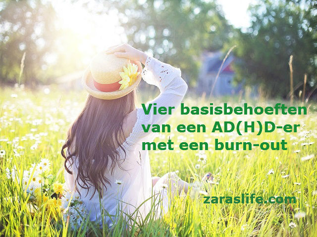 Vier basisbehoeften van een AD(H)D-er met een burn-out