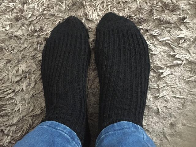 Ik heb ze! Mijn nieuwe wollen sokken :-)