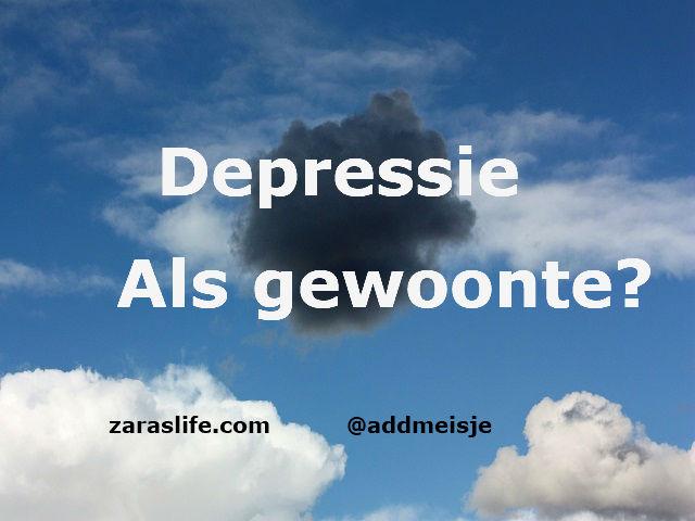 Depressie als gewoonte
