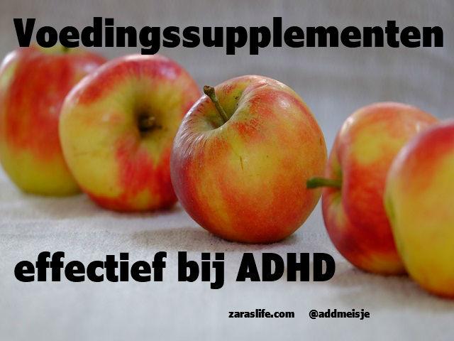 Voedingssupplementen effectief bij ADHD
