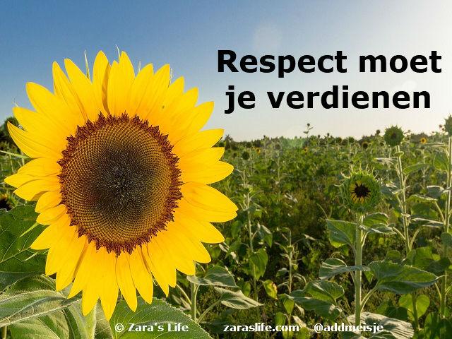 Respect moet je verdienen