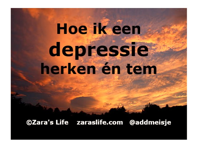 Hoe ik een depressie herken en tem